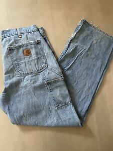 "Vintage Carhartt Carpenter Jeans 36"" Baggy Skate Knee Work Denim 90s"