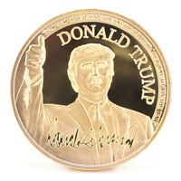 US President Donald Trump Inaugural Gold Commemorative Novelty Coin CollectionSR