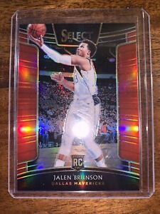 2018-19 Panini Select Jalen Brunson RC /199 Concourse Red #8 Basketball