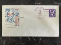 1945 USA Patriotic Cover Uncle Sam Japan Surrender Day Victory Vermont Cancel