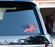 American USA Flag Splat funny Decal Sticker Car, Van, Laptop, old glory