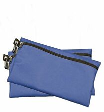 Gear1st Zipper Bags Poly Cloth Value Package of 2 Bags (Blue)