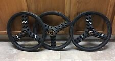 "3 ACS Stealth 3-spoke Mag BMX Wheels Black 20"" GT Dyno Freestyle"