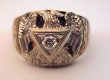 Mans 10K Masonic Ring, FOE, 10 point Diamond, Neat!