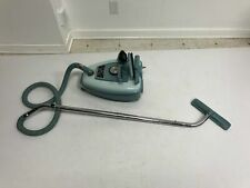 Vintage EUREKA DELUXE Blue Vacuum cleaner w Accessories 1820 rolling canister
