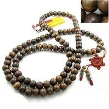 "Fragrant 108 10mm Green Sandalwood Prayer Beads Dharma Wheel Mala Necklace -41"""