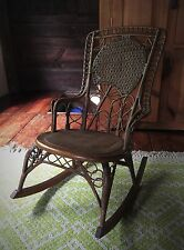 Early Heywood Wakefield Wicker Rocking  Chair .