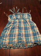 SO Plaid And Floral Baby doll Tank Small