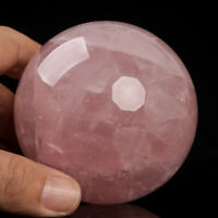 546g 73mm Large Natural Pink Rose Quartz Crystal Sphere Healing Ball Chakra