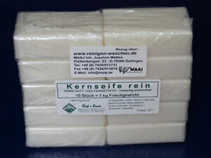 10x KERNSEIFE REIN SEIFE PURE SOAP JABON SAPONE EDTA-PALMÖL-FREI MADE IN GERMANY