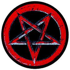 Pentagram Pentagramm rot red Aufnäher Patch Black Metal Satan Wicca Heavy NEU