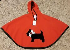 Goodlad Girls Size 4/5 Red Black White Pull-Over Hoodie Poncho With Scottie Dog