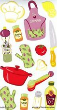 EK SUCCESS STICKO STICKERS - CHEF HAT APRON KNIFE COOK COOKERY - COOKING