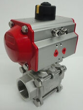 """2"""" 3 - piece Pneumatic Actuated Ball Valve (Double acting)"""