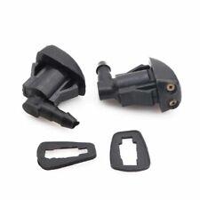 2x Universal Auto Car Windshield Wiper Nozzle Sprayer Washer Spray Nozzle Black