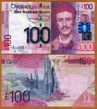 Scotland, Clydesdale Bank, 100 pounds,  2009, P-229M, UNC > First Prefix, Scarce