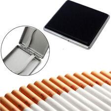 Mens Box Fashion Cigarette Case Tobacco Pocket Holder PU Leather Container 20pcs