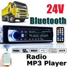 Car Stereo Audio Bluetooth 24V In-Dash Aux Input SD USB MP3 FM Radio Player JSD