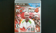 New listing Top Spin 4 PS3 Complete, Tested, Sanitized, Adult Owned, Free Ship CAN