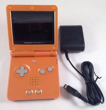 New! Custom Gameboy Advance SP-Orange-AGS-001-Mint Condition!