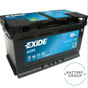Exide 115 110 AGM Car Battery EK800 80Ah 800CCA - Audi BMW Ford Merc EK800