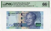 South Africa PMG Certified Banknote 2012 100 Rand UNC 66 EPQ Gem 136a Mandela