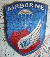 PARATROOPER PATCH - 187th / 101st AIRBORNE - HAMBURGER HILL - Vietnam War - 0161