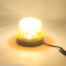 New Amber Strobe Beacon LED Safety Flasher Warning Light / Magnetic Mount 12V