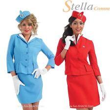 Cabin Crew Air Hostess Fancy Dress Costume Womens Virgin BA Airline Uniform