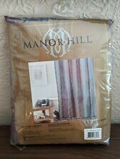 Manor Hill Lamont Fabric Shower Curtain Bed Bath And Beyond 72 X 72 New