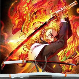 Handmade Demon Slayer Cosplay Anime Katana Rengoku Kyoujurou Samurai Sword Sharp