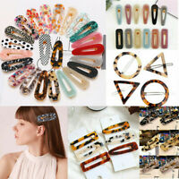 Fashion Women Girls Acid Acetic Acrylic Hairpin Hair Clip Hair Accessories