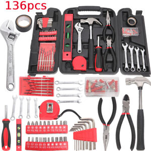 136PCS Tool Kit Home Hardware Hand Tool Set Repair Daily Maintenance Hammer