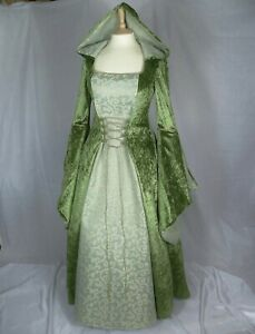 Olive Green Medieval Dress Renaissance Gown Wedding Dress Custom Made to size