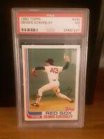 1982 Topps #490 Dennis Eckersley Red Sox (HOF) PSA 7 Near Mint
