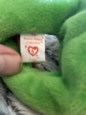 Ty Beanie Baby Legs Frog Rare Original 1993 4-25-93z Great Condition!
