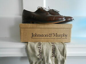 Men's ARISTOCRAFT By JOHNSTON & MURPHY Drk BrownWing Tip Oxfords US 11E