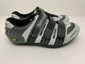 Shimano SPD-SL Leather Cycling Shoes Womens Road EU 39 US 6 Excellent Gray Black