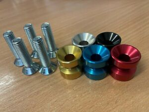Door Drawer Cabinet handle knob machined anodised colourful M6 M10 - made in UK