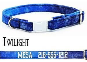 Personalized Cat Collar Safety Breakaway Buckle Adjustable Cotton Cats & Kittens