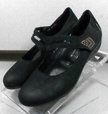 DORA BLACK LMMS70 Women's Shoes Size 7 (EUR 4.5) Leather Flats Mephisto