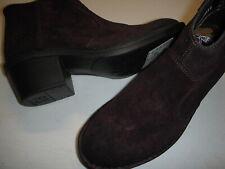 Fly London Dari Suede Leather Side-Zip Ankle Boots 38 Purple Women's US 7-7.5 ~