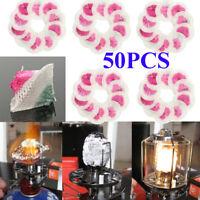 Lot 50Pcs Pressure Lamp Mantles Kerosene Oil Steam Lamp Gas Lantern Spare  ♬