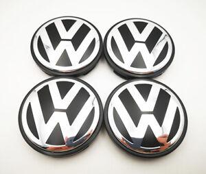 "2.5"" 4Pcs Wheel Center Hub Caps For Vw Volkswagon Beetle Passat Polo #3b7601171"