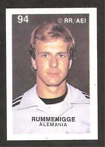 KARL-HEINZ RUMMENIGGE RC 1978 WC REYAUCA VENEZUELA #94 ROOKIE STICKER RARE