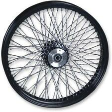 Paughco Black 16 x 3 80 Twisted Spokes Rear Wheel Harley FLH/T 00-07 16-126