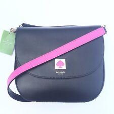 NWT Kate Spade Doreen New Bond Street Saddle Crossbody Shoulder Bag Black