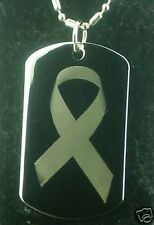 BREAST CANCER Dog tag Pendant Necklace