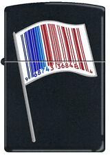 Zippo Identity Flag Black Matte Windproof Lighter NEW RARE