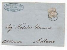 1863 ITALY REGNO 2 CENT PER GIORNALI MILANO 12/1 A/3399